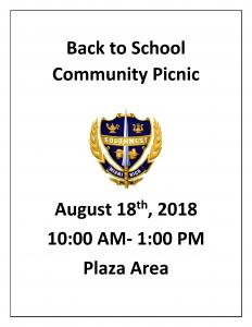 Back to School Community Picnic @ Southwest Senior High School Plaza Area