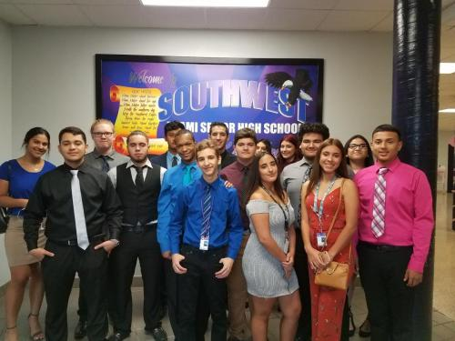 .NET Academy of Information Technology Students attending the DECA District Leadership Conference