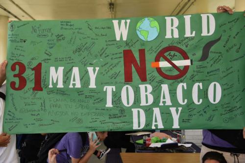World No Tobacco Day taking the pledge