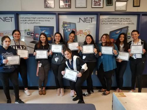 Students who earned their Florida Ready to Work Certification